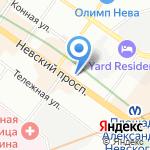 Профсоюз работников народного образования и науки РФ на карте Санкт-Петербурга