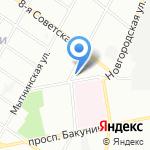 Западный скоростной диаметр на карте Санкт-Петербурга