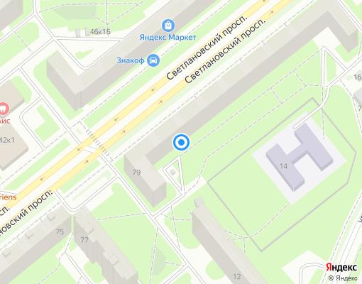 Товарищество собственников жилья «СПБ, СВЕТЛАНОВСКИЙ ПРОСПЕКТ, 79» на карте Санкт-Петербурга
