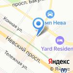 ИНАТА на карте Санкт-Петербурга
