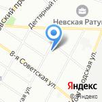 Миледи на карте Санкт-Петербурга