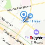 Вижион Нева на карте Санкт-Петербурга