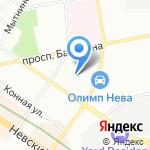 Кафе на карте Санкт-Петербурга