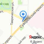 Нартекс на карте Санкт-Петербурга