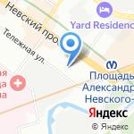 PozitiV rent-a-car на карте Санкт-Петербурга