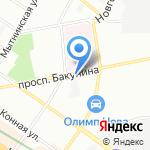 Центральная автоколонна №11 на карте Санкт-Петербурга