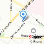Средняя общеобразовательная школа №174 на карте Санкт-Петербурга