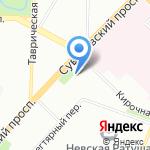 Суворовский-61 на карте Санкт-Петербурга