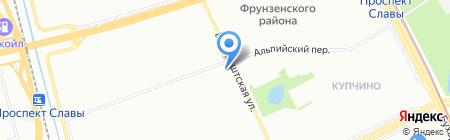 Хлебдома на карте Санкт-Петербурга