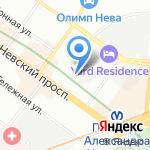 Отдел потребительского рынка Администрации Центрального района на карте Санкт-Петербурга