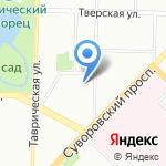Тверичанка на карте Санкт-Петербурга