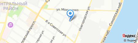 Каминотека на карте Санкт-Петербурга