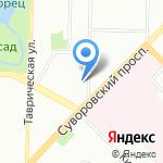 Русалка на карте Санкт-Петербурга