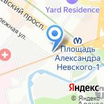 Алоль на карте Санкт-Петербурга
