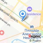 Чайная ложка на карте Санкт-Петербурга