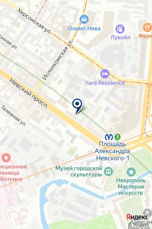 Трубочист на карте Санкт-Петербурга