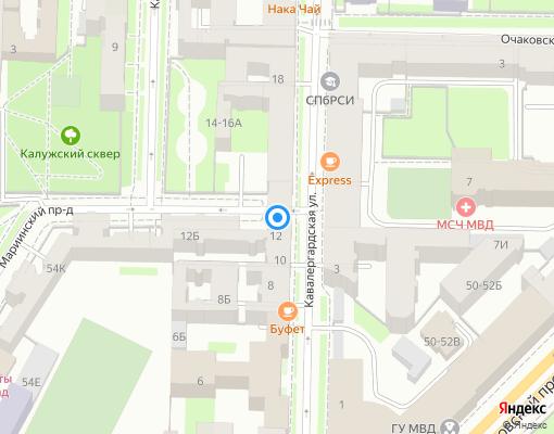 Товарищество собственников жилья «Кавалергардская 12» на карте Санкт-Петербурга