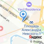Кондитерская фабрика им. Н.К. Крупской на карте Санкт-Петербурга