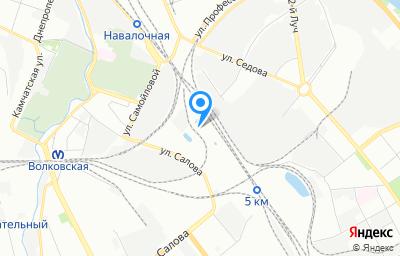 Местоположение на карте пункта техосмотра по адресу г Санкт-Петербург, ул Салова, д 34 литер н