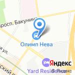 Онегин парк на карте Санкт-Петербурга