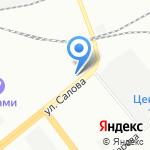 Рабочий полдень на карте Санкт-Петербурга