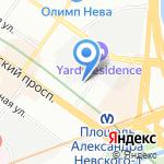 Ланч на карте Санкт-Петербурга