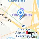 Светодиод СПб на карте Санкт-Петербурга