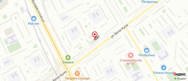 Карта расположения пункта доставки Санкт-Петербург Белы Куна в городе Санкт-Петербург