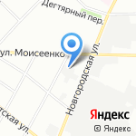 Юнитекс Нева на карте Санкт-Петербурга