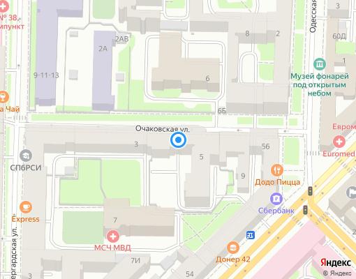 Товарищество собственников жилья «Очаковская» на карте Санкт-Петербурга