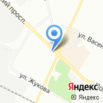 Калининский на карте Санкт-Петербурга