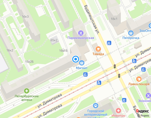 Жилищно-строительный кооператив «ЖСК № 987» на карте Санкт-Петербурга