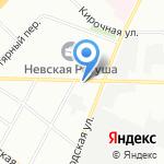 Без устали на карте Санкт-Петербурга
