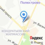Дизайн Линия на карте Санкт-Петербурга