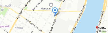 Армстрой на карте Санкт-Петербурга