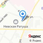 М на карте Санкт-Петербурга