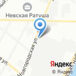 Внутренние горы СПб на карте Санкт-Петербурга
