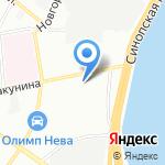 Астон на карте Санкт-Петербурга