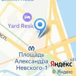 NOVA Недвижимость на карте Санкт-Петербурга