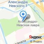 Епархиальное Управление Русской Православной Церкви на карте Санкт-Петербурга