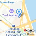 Интермедиа на карте Санкт-Петербурга
