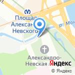 Паломническая служба Свято-Троицкой Александро-Невской лавры на карте Санкт-Петербурга
