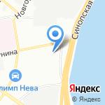 Синопская баня на карте Санкт-Петербурга