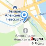 Киоск по продаже сувениров на карте Санкт-Петербурга