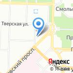 Муниципальное образование округ Смольнинское на карте Санкт-Петербурга