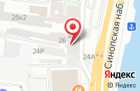 Схема проезда до компании Метакон в Санкт-Петербурге