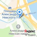 Благовещенская Александро-Невская церковь на карте Санкт-Петербурга