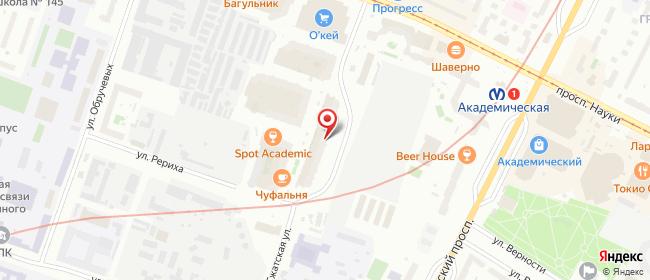 Карта расположения пункта доставки магазин Радость дарить в городе Санкт-Петербург