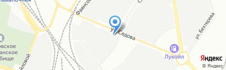 Шиномонтажная мастерская на ул. Седова на карте Санкт-Петербурга