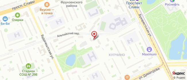 Карта расположения пункта доставки Санкт-Петербург Альпийский в городе Санкт-Петербург